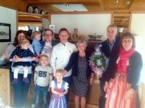 Gästeehrung am 2.1.2017, 70. Aufenthalt von Doris und Klaus Mekas im Haus Christine.