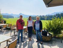 Gästeehrung am 14.09.2020, 20. Aufenthalt von Gerlinde und Günter Ott im Hotel Christine.