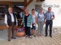 Gästeehrung am 28.6.2017, 10. Aufenthalt von Edith und Goswin Ehleben und Cor und Riet van der Mooren im Landhaus Wagner.