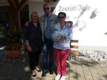 Gästeehrung am 10.09.2019, 30. Aufenthalt von Anne und Dieter Fay bei Schlosser Annemie im Kösselhof.