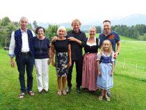Gästeehrung am 1.8.2018, 30. Aufenthalt von Heide und Bernhard Fuhrmann, 40. Aufenthalt von Thomas Göhmann im Kösselhof.