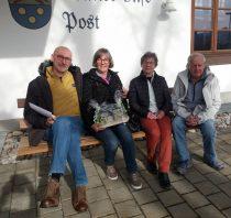 Gästeehrung am 17.2.2020, 20. Aufenthalt von Claudia und Roland Buitkamp bei Familie Schabel.