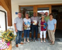 Gästeehrung am 23.8.2017, 10. Aufenthalt von Luise und Willi Hengsteler im Haus Christine, Roswitha und Edgar Bretschneider bei Nigg Rosi.