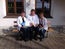 Gästeeehrung am 12.04.2017, 10. Aufenthalt von Renate und Andreas Unangst im Haus Wagner.
