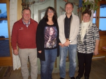 Gästeehrung am 24.2.2015, 10. Aufenthalt von Conny Troubal und Jürgen Geißinger bei Familie Nigg.