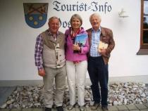 Gästeehrung am 27.5.2015, 10. Aufenthalt von Maria Eischeid und Arne Molle im Gästehaus Nigg