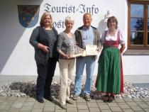 Gästeehrung am 2.6.2015, 20. Aufenthalt von Gisela Harre und Eckart Bielmeier bei Familie Schrade.
