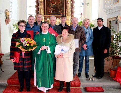 Alte Kirchenverwaltung und Kirchenpfleger verabschiedet