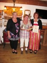 Gästeehrung am 6.10.2014, 20. Aufenthalt von Ulrike Doll im Kösselhof