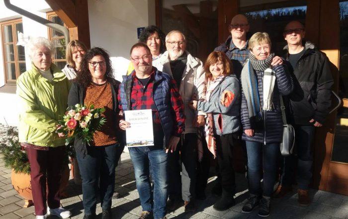 Gästeehrung am 30.12.2019, 70. Aufenthalt von Kern Klaudia und Joachim mit Ihren Freunden und ehemaliger Vermieterinnen Hagenauer Rosl und Geisenhofer Lucia.