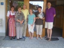 Gästeehrung am 13.6.2014, 10. Aufenthalt von Anneliese und Edgar Weisgerber bei Familie Wagner, 30. Aufenthalt von Martina und Stefan Lenz bei Fam. Schreiner