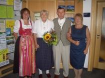 Gästeehrung am 13.8.2014, 50. Aufenthalt von Müller Gerda und Heinz bei Fam. Hipp