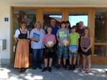 Gästeehrung am 26.08.2016, jeweils 10. Aufenthalt von Fam. Annette und Reinhold Krischke bei Fam. Hagenauer und Fam. Dutschek bei Guggemos Josef.