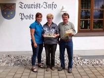 Gästeehrung am 6.7.2016, 20. Aufenthalt von Sonntag Barbara und Bernd im Landhaus Wagner.