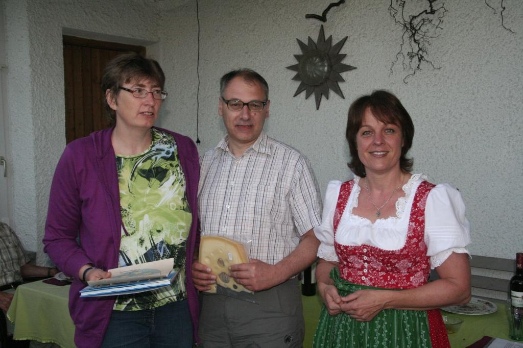 Gästeehrung am 28.6.2014, 10. Aufenthalt von Hutterer Gabi und Michael bei Dopfer Lydia und Gregor