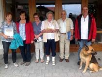 Gästeehrung am 6.9.2016, 10. Aufenthalt von Margot und Rainer Gauer bei Nigg Rosi und Johanna und Vinzenz Herrmann bei Friedl Hedi.