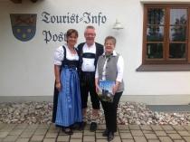 Gästeehrung am 2.9.2015, 10. Aufenthalt von Wilhelm Karin und Hartmut im Landhaus Wagner.