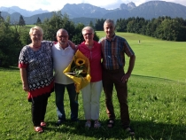 Gästeehrung am 18.8.2016, 50. Aufenthalt von Kreuter Gudrun und Joachim im Kösselhof.