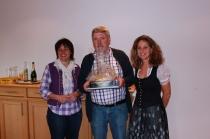 Gästeehrung am 07.11.2014, 30. Aufenthalt von Gerd Meyn im Burghotel Bären